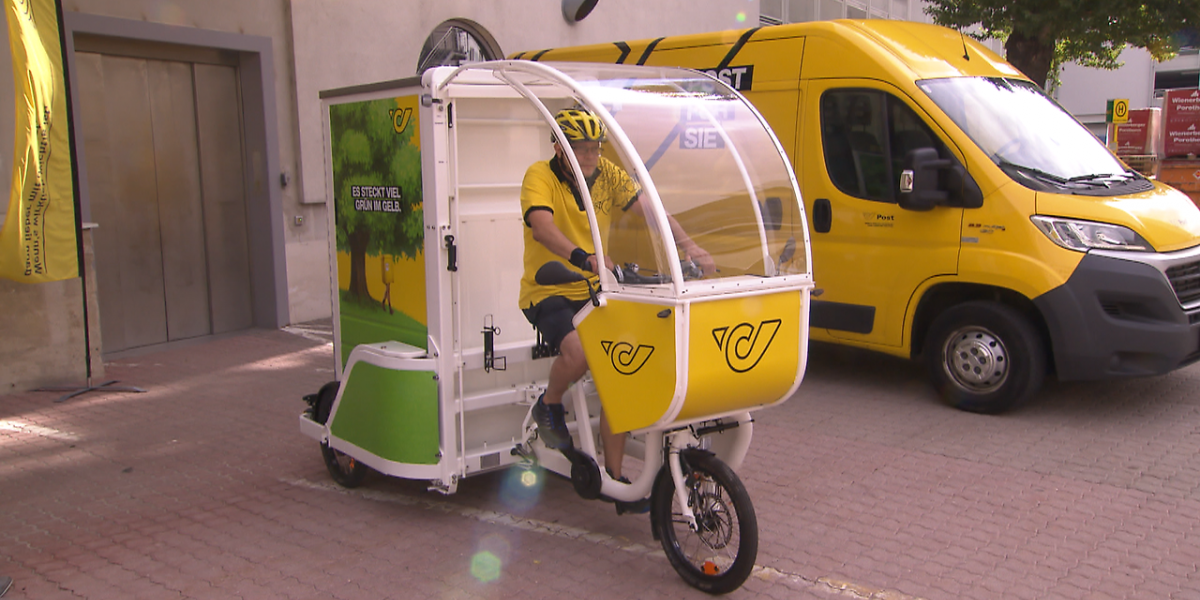 New e-cargo bikes of Austrian Postal Service (Source: ORF.at)