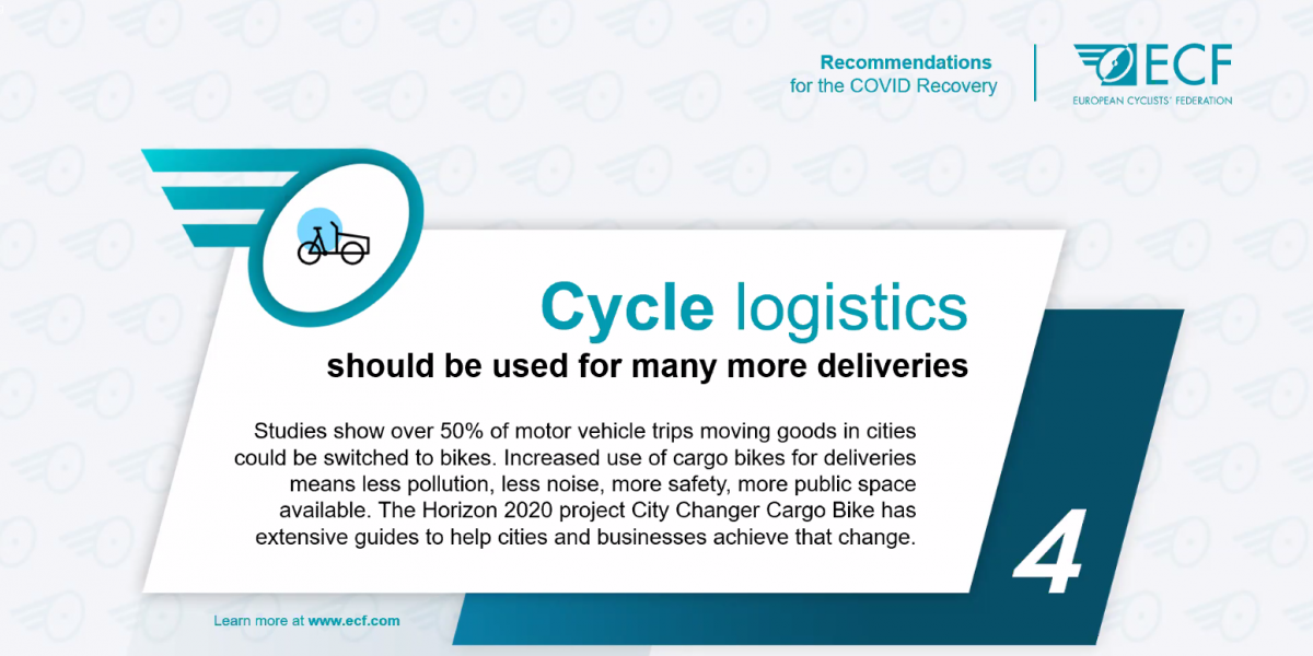 Rethinking post-COVID Mobility: European Cyclists' Federation Puts the Spotlight on Cycle Logistics