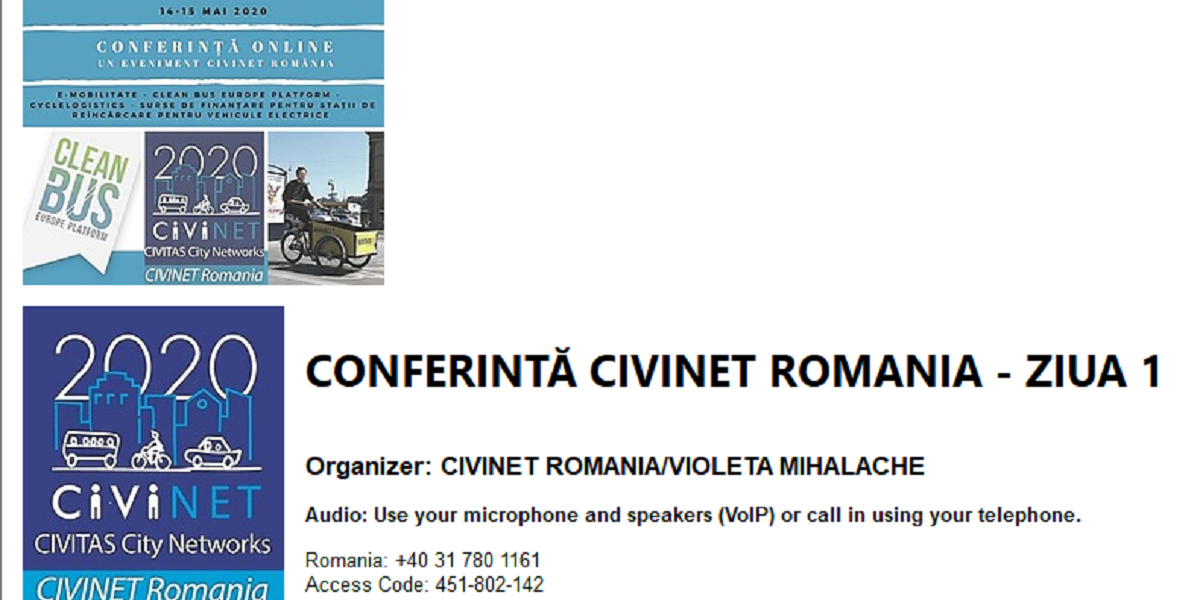 CIVIENET ROMANIA ONLINE CONFERENCE