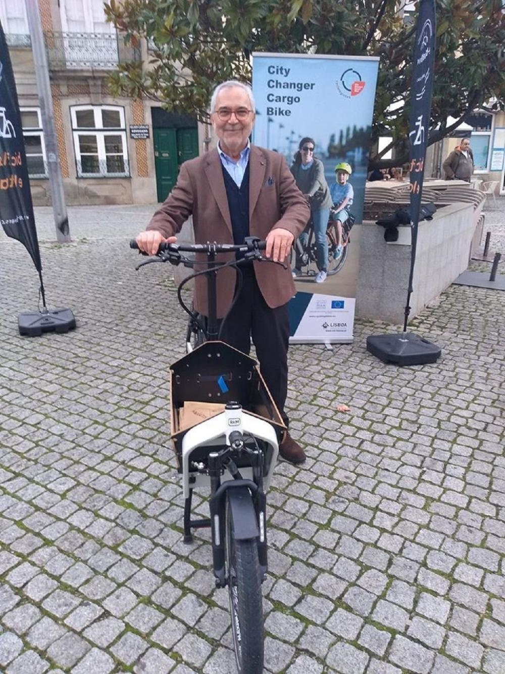A Cargo Bike Smile from the Mobility Deputy Mayor of Vila Real