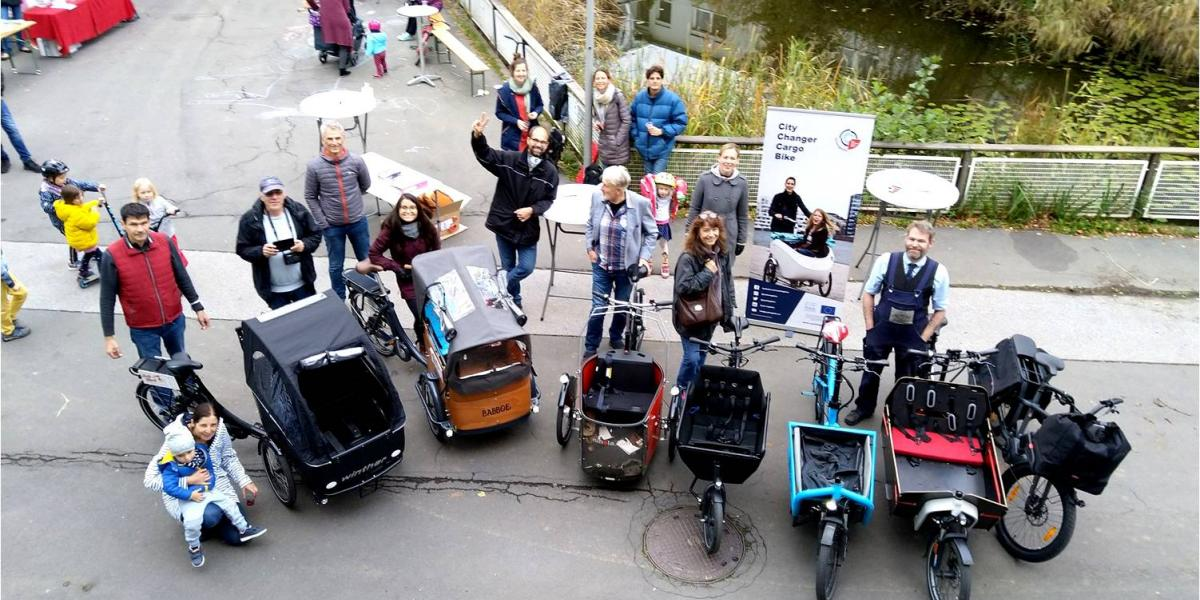 Group of cargo bikes